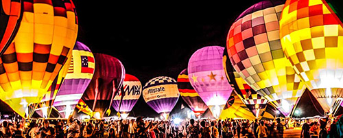 Best Restaurants in Plano - Plano Balloon Festival Balloon Glow